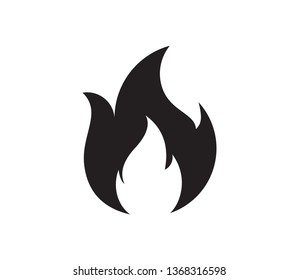 Fire flame logo vector illustration design template