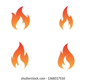 Fire flame logo vector illustration design template