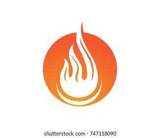 Fire flame nature logo and symbols icons template