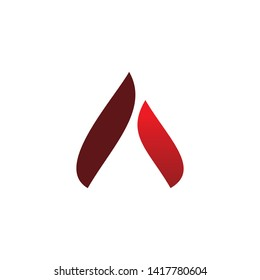 fire flame triangle logo design