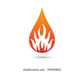 Fire flame vector icon