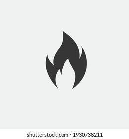 fire flame vector icon burning