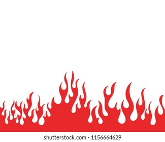 fire flame vector illustration design template stock vector royalty