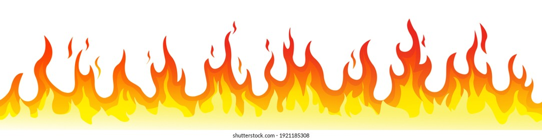 fire flame vector in red color