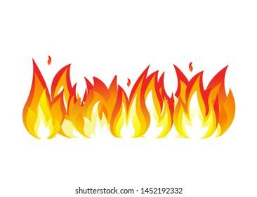 Fire flames. Bonfire vector illustration