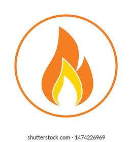 fire flames icon. flat illustration of fire flames vector icon. fire flames sign symbol