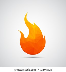 Fire flames icon - Vector