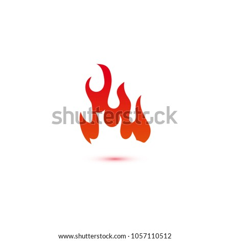 fire flames logo graphic template stock vector royalty free