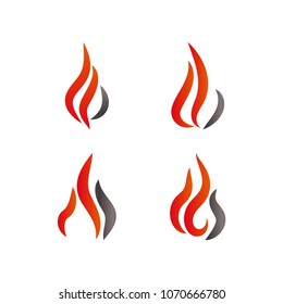 fire flame logo template stock vector royalty free 672429541