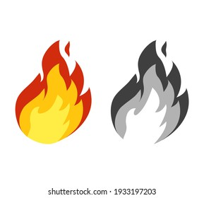 Fire flames sign. Fire icon - vector illustration