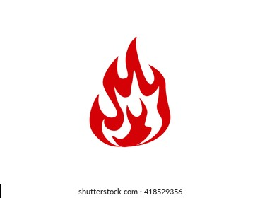 Fire flames vector icon