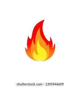 Fire. Flat design. Vector illustration. Isolated.