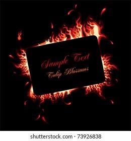 Fire frame. Illustration vector.