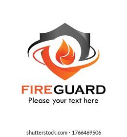 Fire guard logo design template illustration