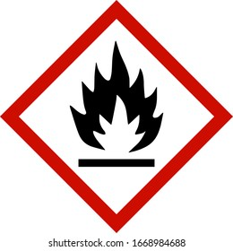 fire hazard sign isolated on transparent background