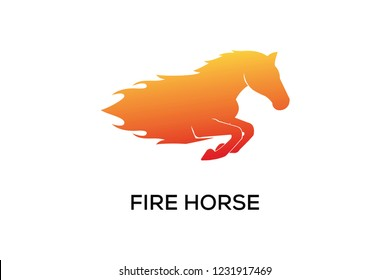 FIRE HORSE LOGO DESIGN