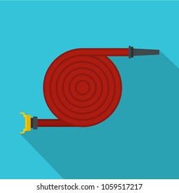 Fire hose icon. Flat illustration of fire hose vector icon for web