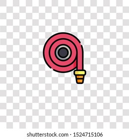 fire hose icon sign and symbol. fire hose color icon for website design and mobile app development. Simple Element from firefighter collection for mobile concept and web apps icon.