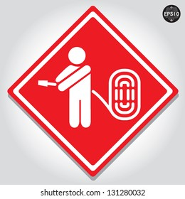 Fire hose signs, vector