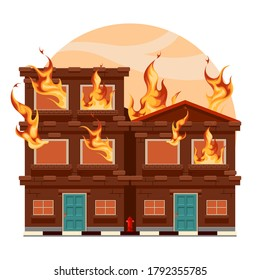Fire House   Building  Burning House   Disaster   Dangerous   Flaming