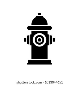 Fire hydrant icon. Black, minimalist icon isolated on white background. Fire hydrant simple silhouette. Web site page and mobile app design vector element.