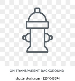 Fire hydrant icon. Trendy flat vector Fire hydrant icon on transparent background from nature collection. High quality filled Fire hydrant symbol use for web and mobile