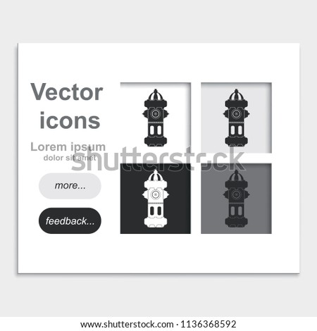 fire hydrant placed on web page stock vector royalty free