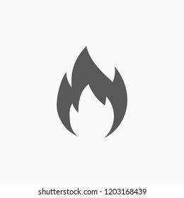 fire icon, blaze vector