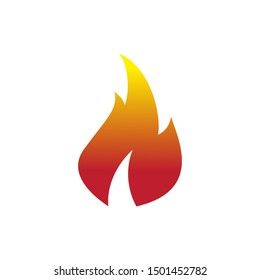 Fire icon. For design  fire icon object  icon - stock vector