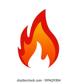 Fire icon. For design, fire icon object, icon - stock vector