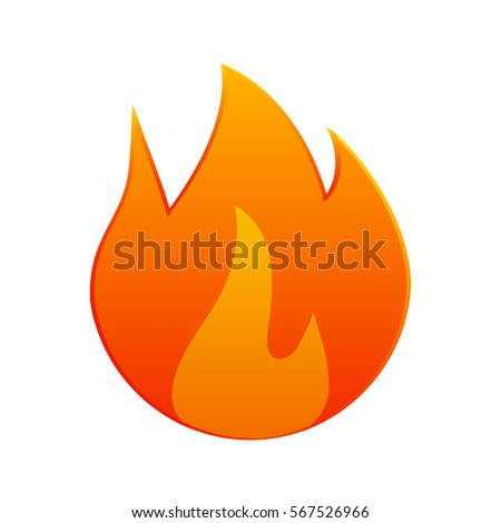 fire icon illustration design on white stock vector royalty free
