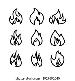 fire icon or logo isolated sign symbol vector illustration - Collection of high quality black style vector icons