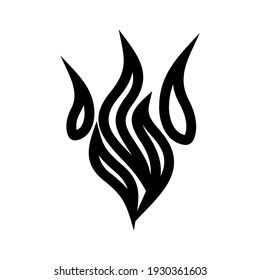 fire icon or logo isolated sign symbol vector illustration - high quality black style vector icons