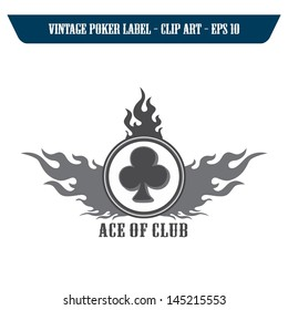 fire label art club poker