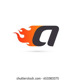 """Fire Letter """"a"""" logo template. Isolated on white background, vector illustration eps 10."""