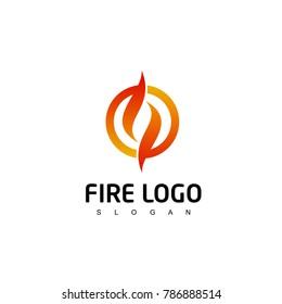 Fire Logo, circle flame logo