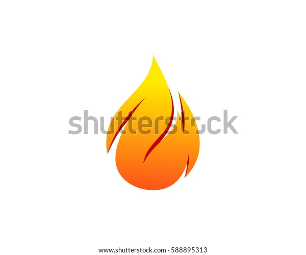 Fire Logo Design Element