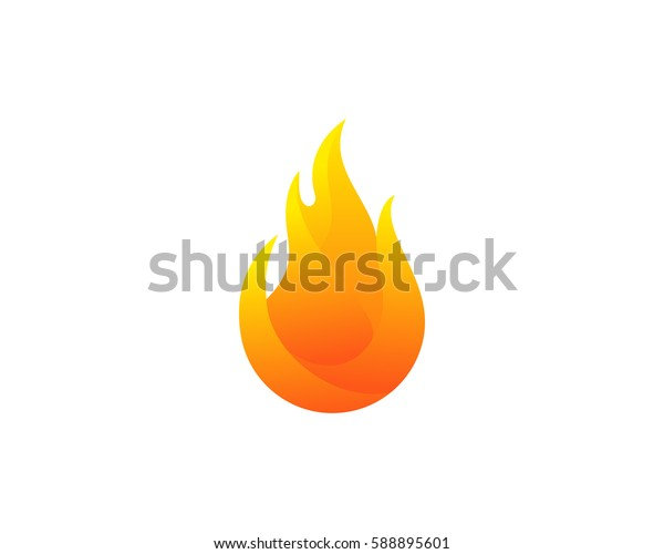 Fire Logo Design Element