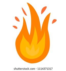 Fire logo. Red, yellow fire