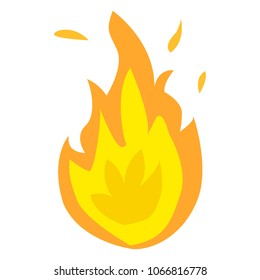 the Fire logo. Red, yellow fire - vector