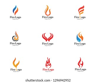 Fire logo symbol vector hot