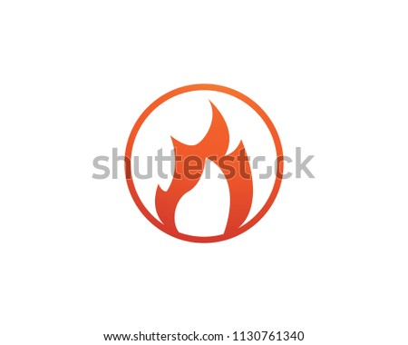 Fire Logo Symbols Flame Stock Vector (Royalty Free) 1130761340