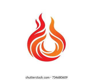 Fire Logo Template Design Vector, Emblem, Design Concept, Creative Symbol, Icon