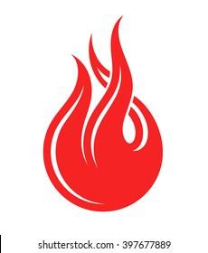 Fire. Logo. Vector illustration