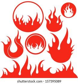 Fire. Logo. Vector illustration EPS10