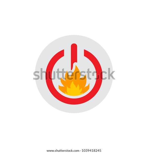 Fire Power Logo Icon Design