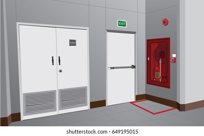 Fire protection alarm And emergency exit