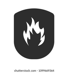 Fire protection icon.fire icon and shield.