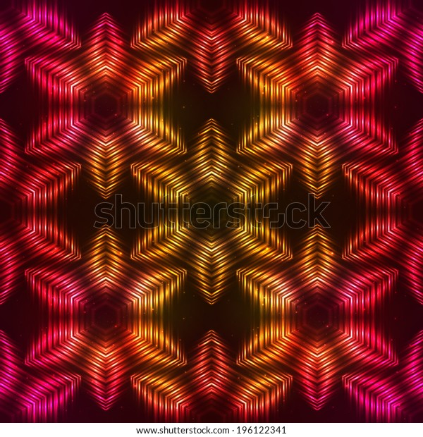 Fire red vector abstract seamless pattern