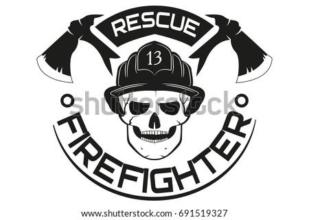 fire rescue emblem logo vector illustration stock vector royalty